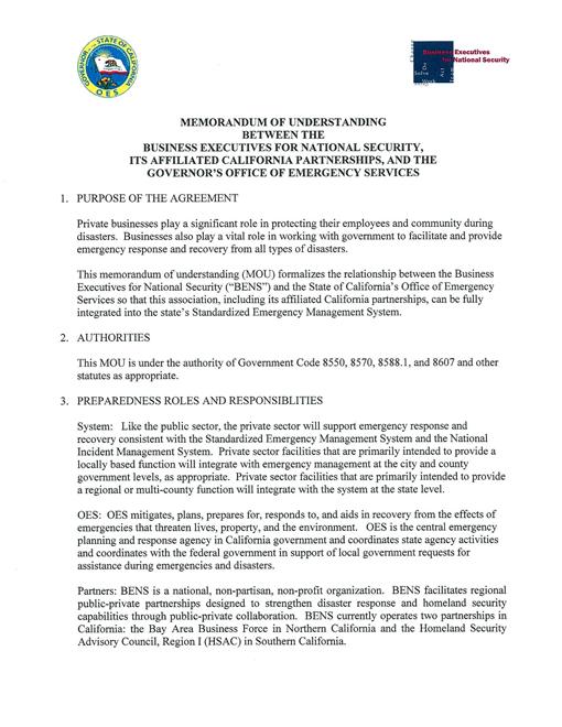 Business Memorandum Of Understanding