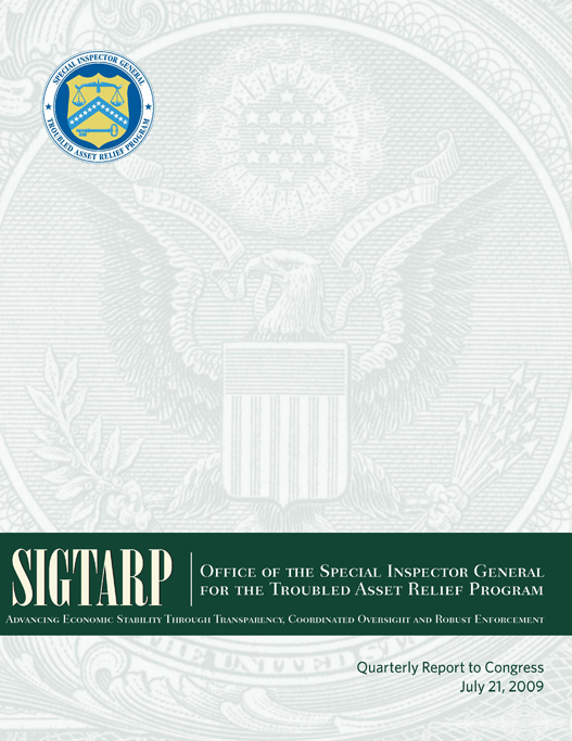 July2009_Quarterly_Report_to_Congress