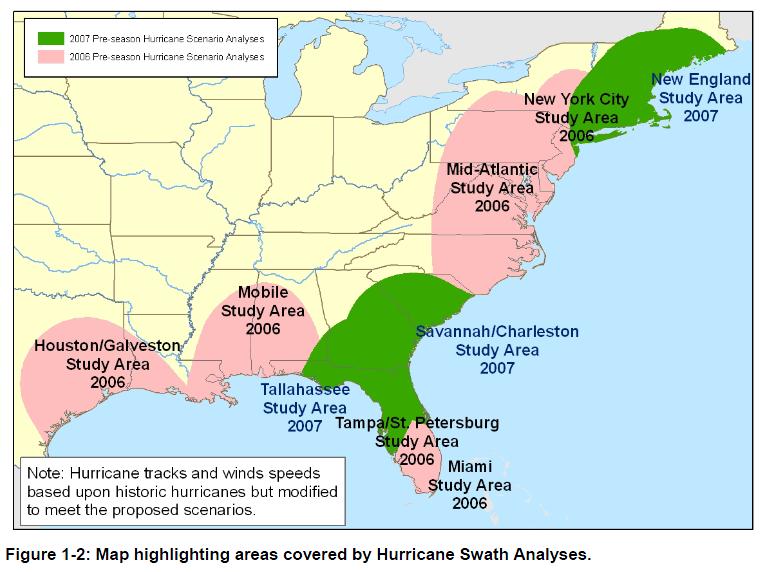 Hurricane Risk Map Florida.2006 2007 Pre Hurricane Scenario Analyses Public Intelligence