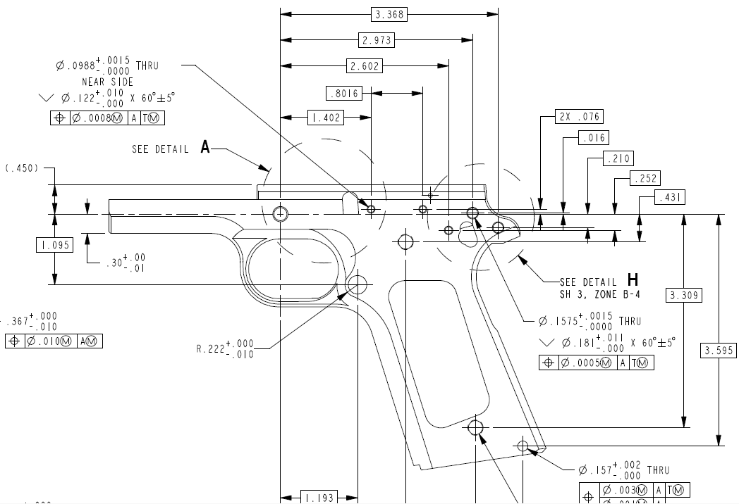 45 Caliber Pistol Modified Receiver Schematics