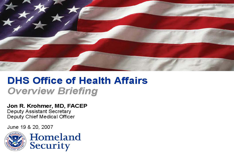 DHSOfficeofHealthAlertsMY2007
