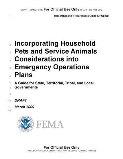 Fema basic emergency operations plan template