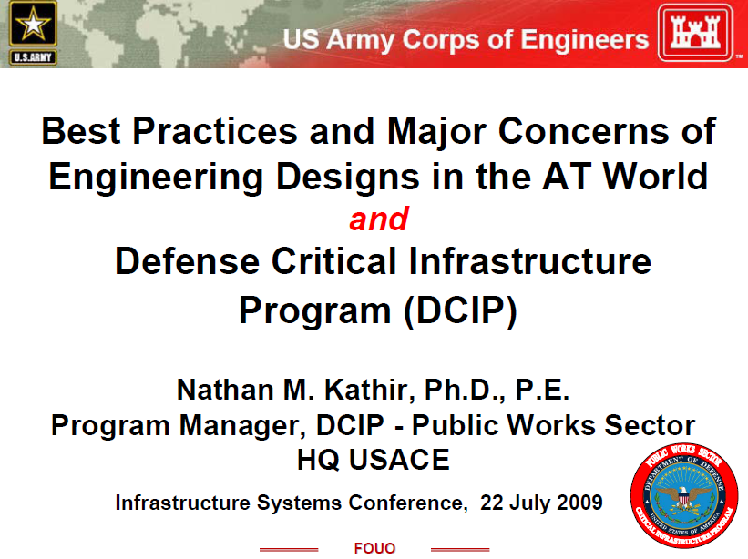2009 USACE ISC Best Practices AT Kathir