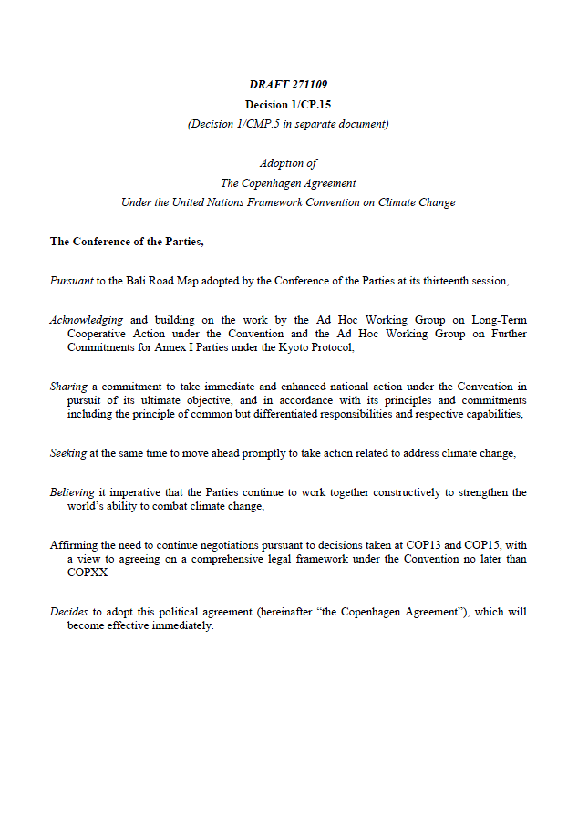Copenhagen Draft Treaty Danish Text Public Intelligence