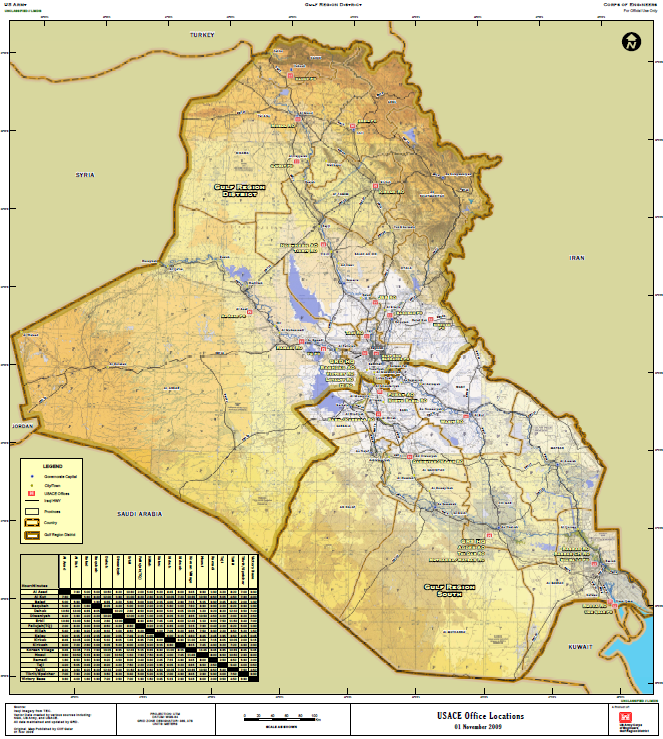 Us Army Corps Of Engineers Iraq Office Locations Map Public - Us-army-corps-of-engineers-district-map