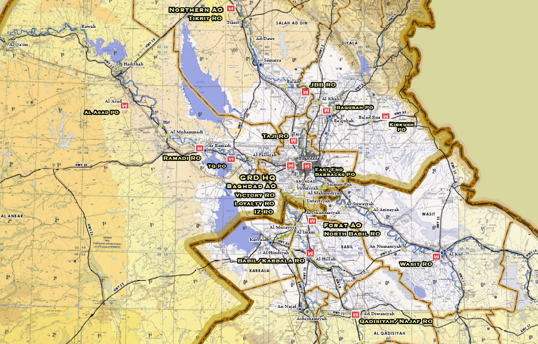 US Army Corps Of Engineers Iraq Office Locations Map Public - Us corps of engineers maps