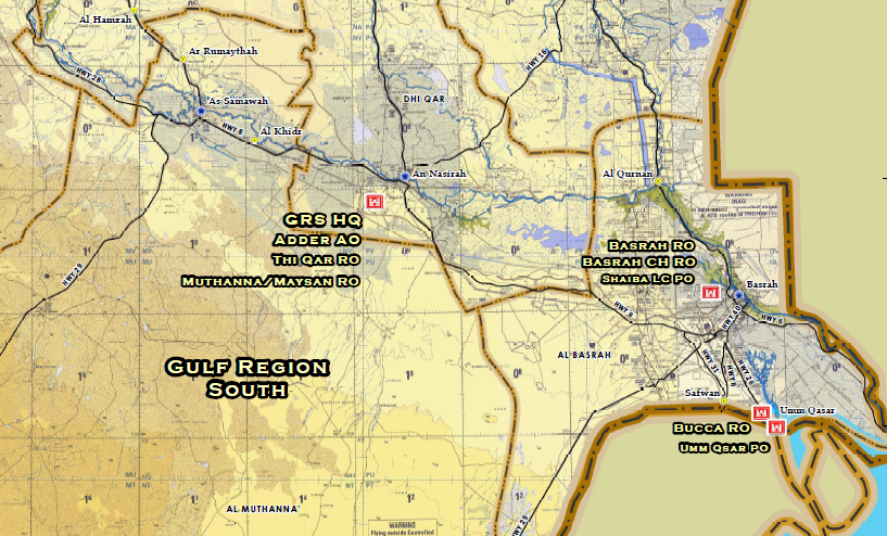 U.S. Army Corps of Engineers Iraq Office Locations Map