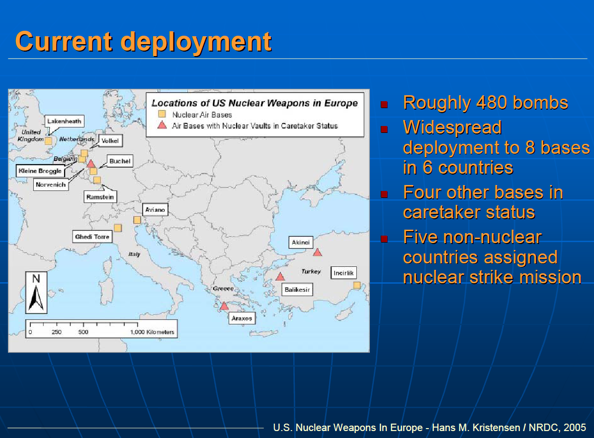 US Nuclear Weapons In Europe Public Intelligence - Us nuclear weapons map