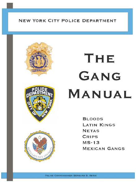 Nypd Street Gang Manual Public Intelligence