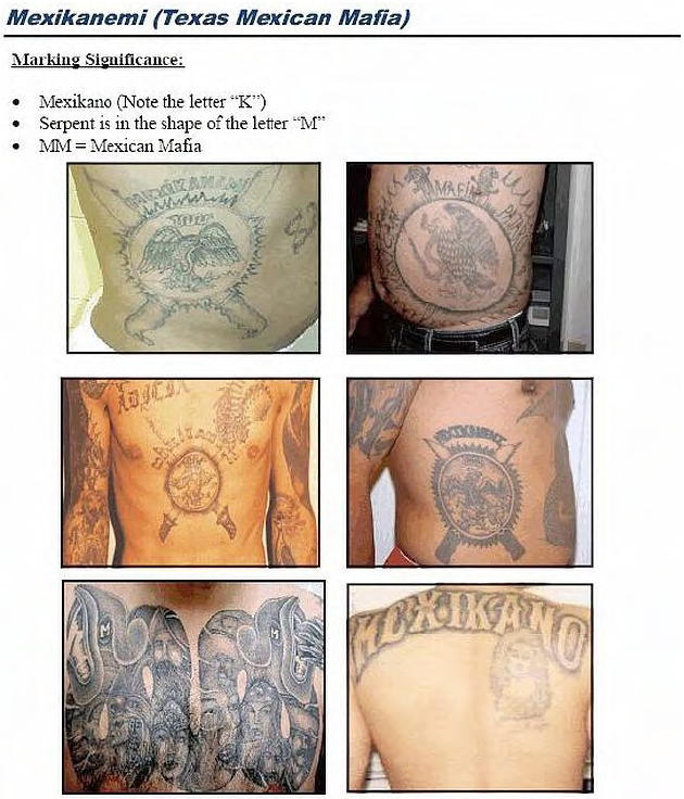 Gang Tattoos And Their Meaning: (U//LES) Mexican Gang Tattoos Identification Guide