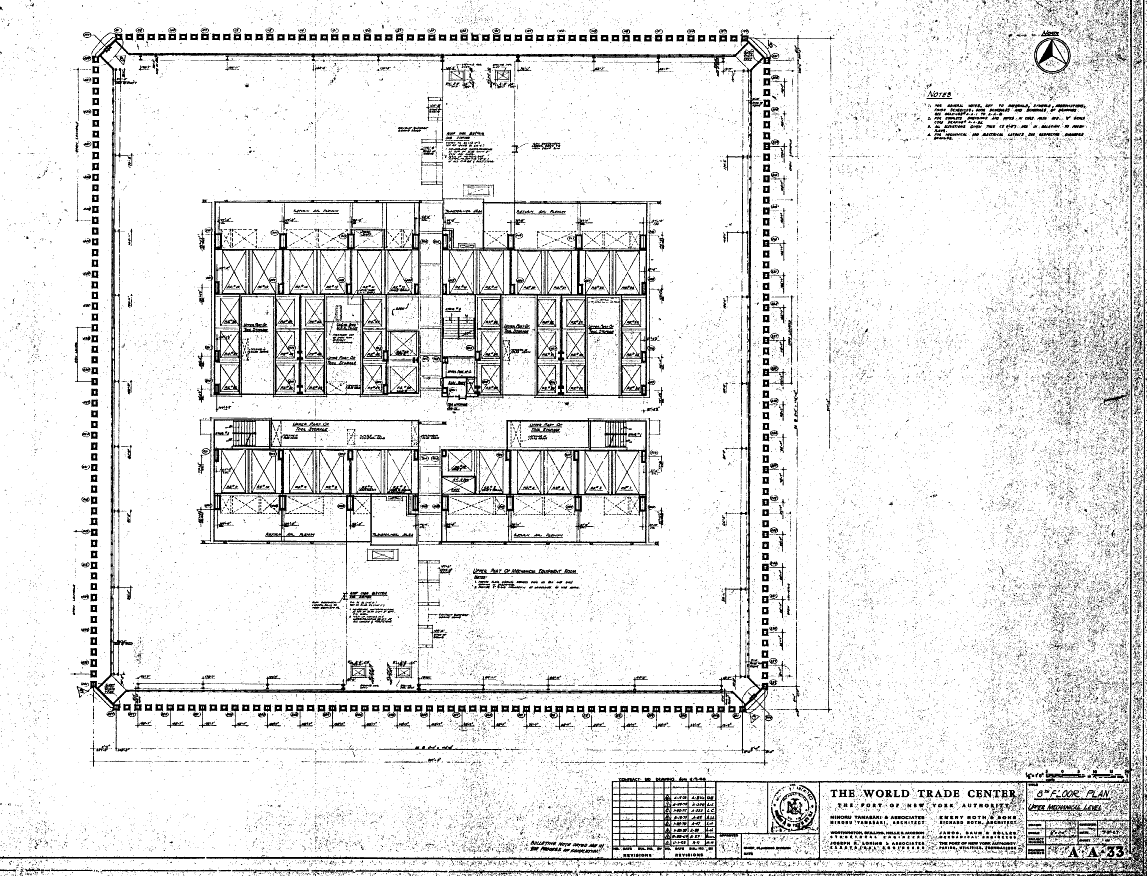 World trade center north tower blueprints public for The world deck plans