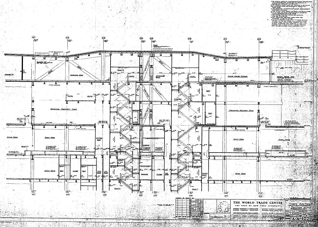 World trade center north tower blueprints public intelligence share this malvernweather Choice Image