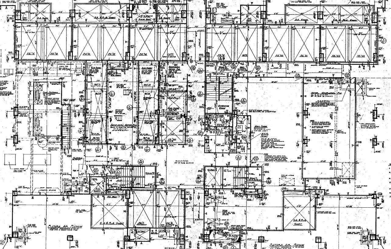 World Trade Center North Tower Blueprints | Public Intelligence