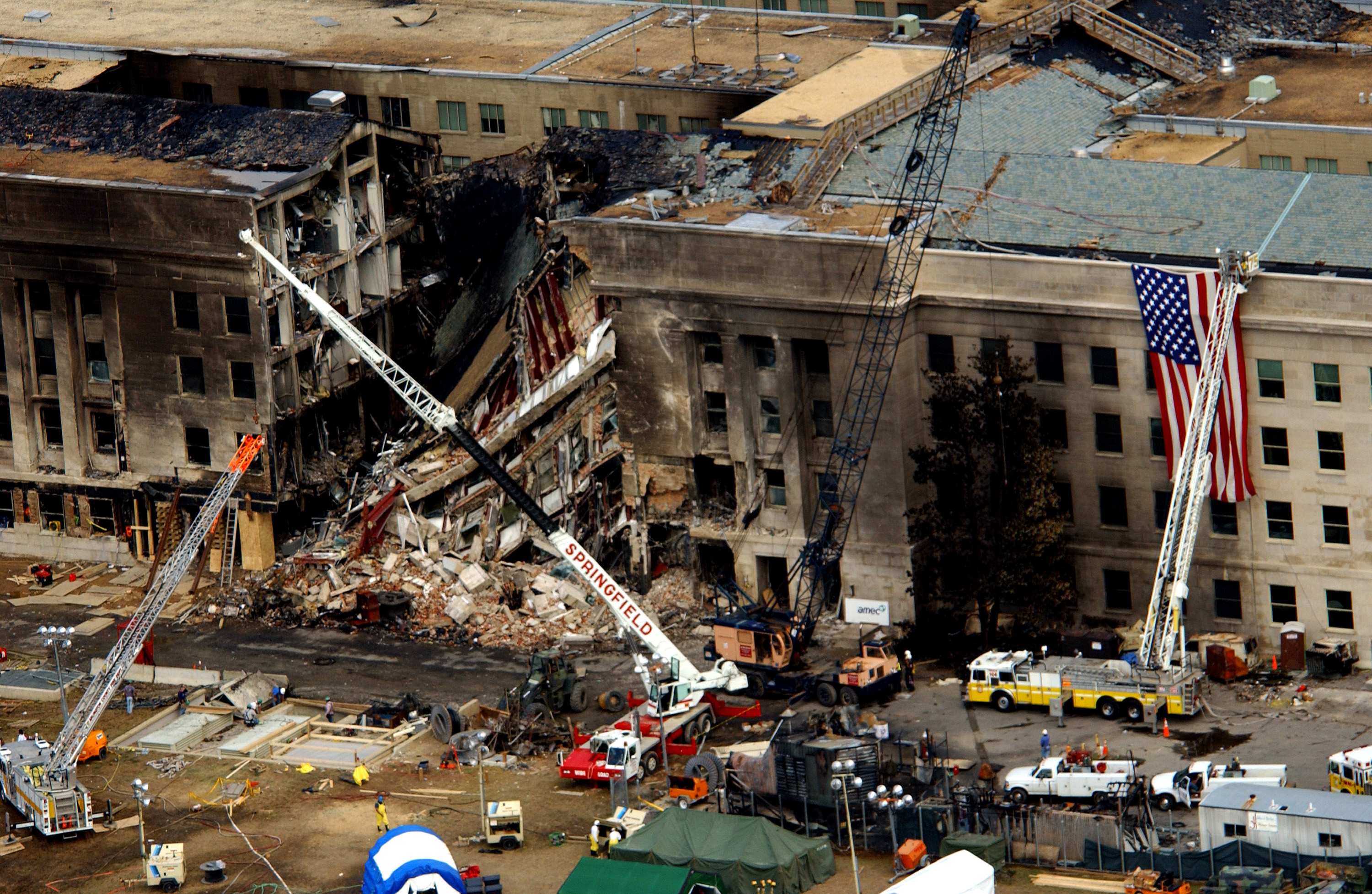 9 11 Pentagon Damage High Resolution Aerial Photos