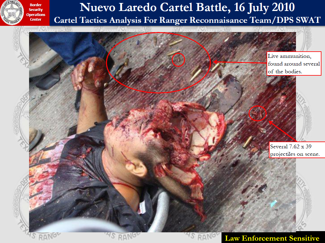Mexico Cartel Killing Videos http://publicintelligence.net/nuevo-laredo-mexican-drug-cartel-gun-battle-extreme-carnage-overview/