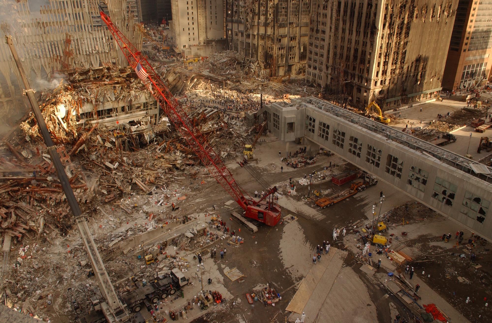 9 11 Ground Zero Damage Overview High Resolution Photos