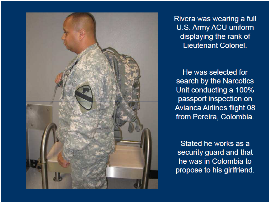Customs and Border Protection Colombian US Army Imposter ...