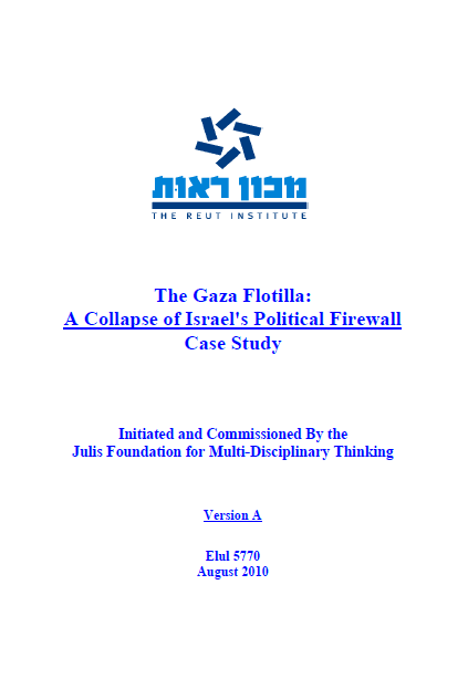 Reut Institute Report on Gaza Flotilla and Israel's ...