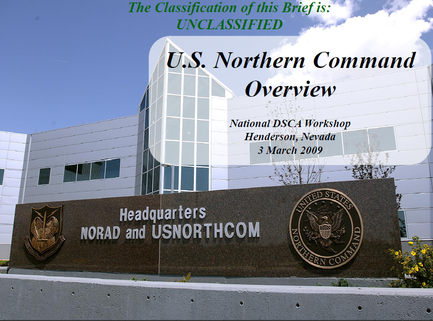 UFOUO US Northern Command NORTHCOM And CONPLAN CBRNE - Us northern command map