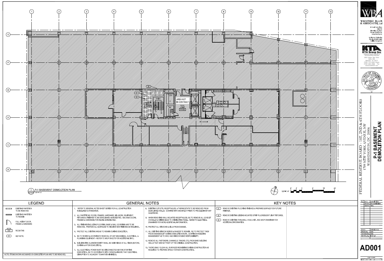 federal reserve board of governors new york ave building electrical plan basement #8