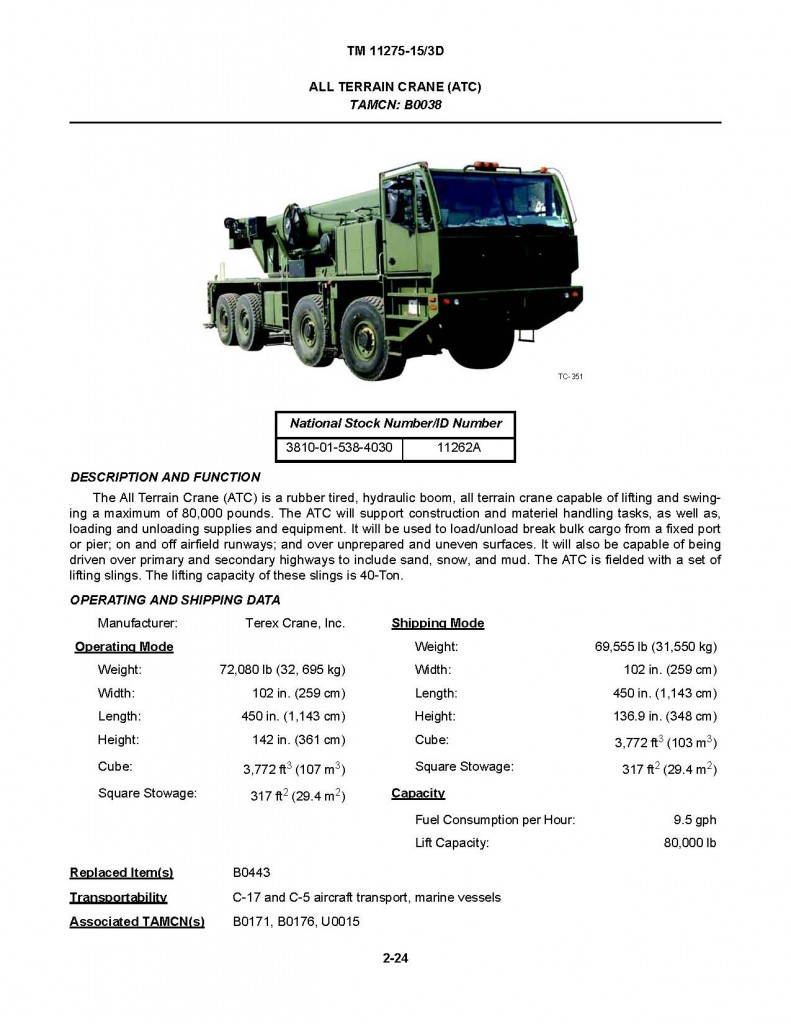 U fouo usmc engineer equipment technical for Marine corps motor transport characteristics manual