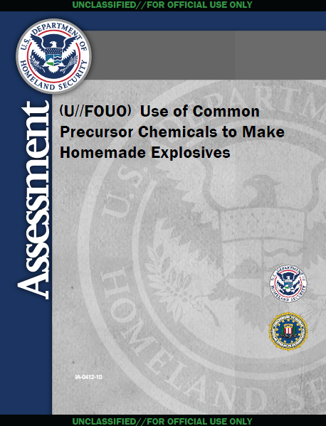 Release  DHS-FBI Use of Common Chemicals to Make Homemade ExplosivesChemical Explosives