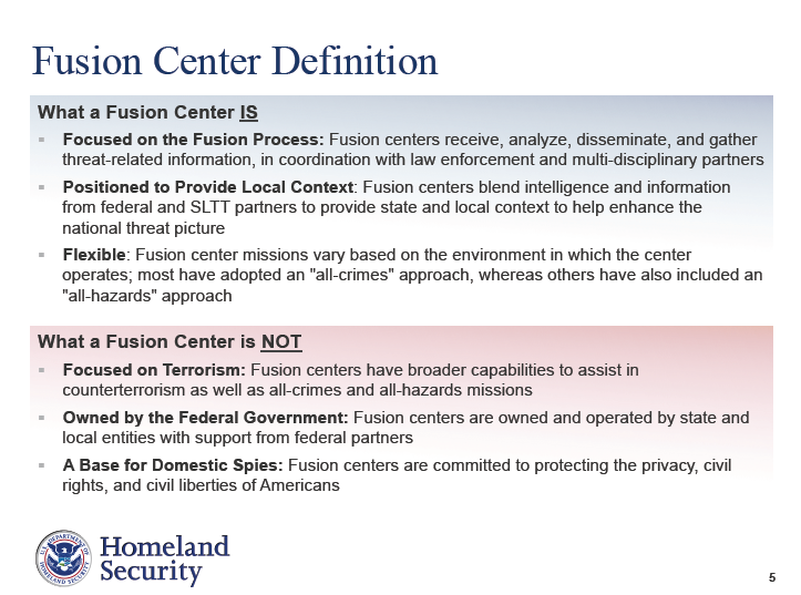 fusion centers Scholars should try to understand better the extent to which local fusion centers are acting as a buffer between the practice of.