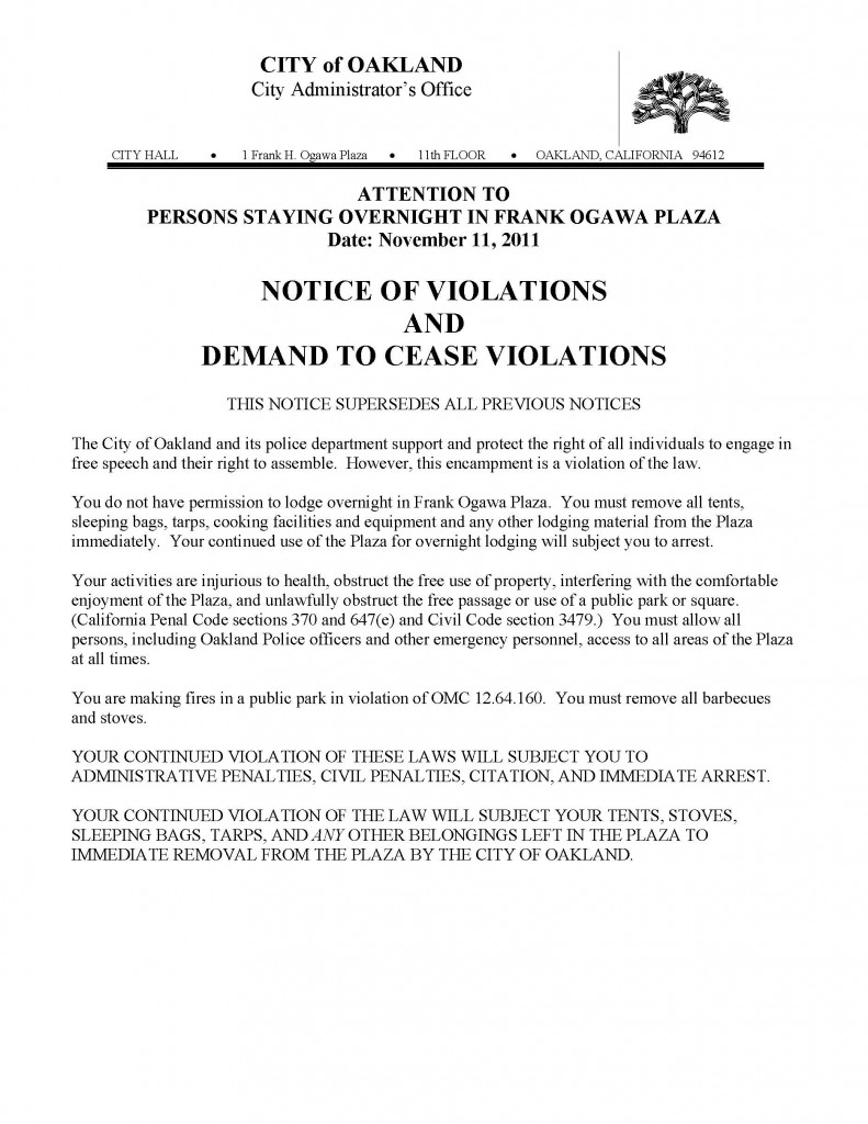 Share This:  Eviction Warning Letter