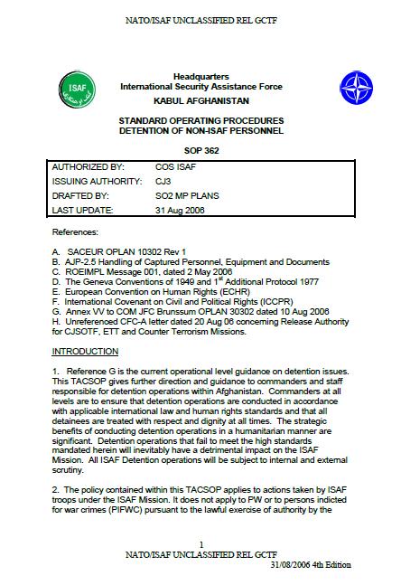 security standard operating procedures pdf