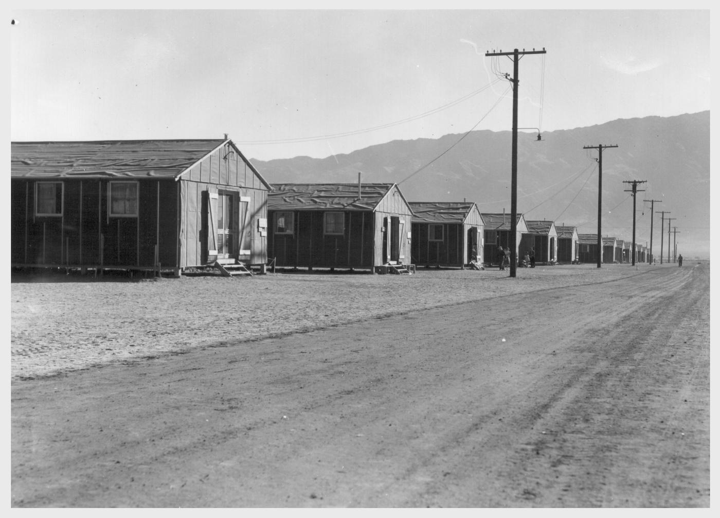 War Relocation Authority Calif.--Street scene o...