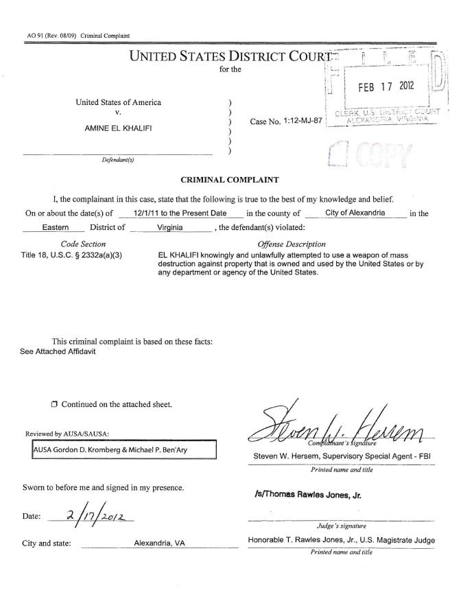 Texas Criminal Complaint Form