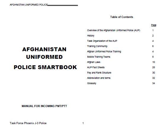 Law Enforcement Ranks >> Afghan Uniformed Police Smartbook Public Intelligence