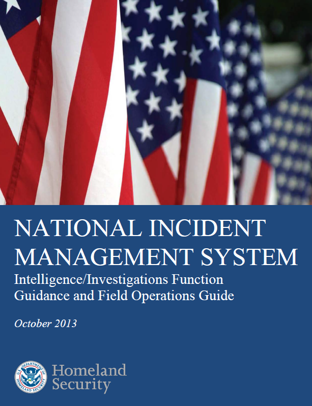 dhs national incident management system  intelligence