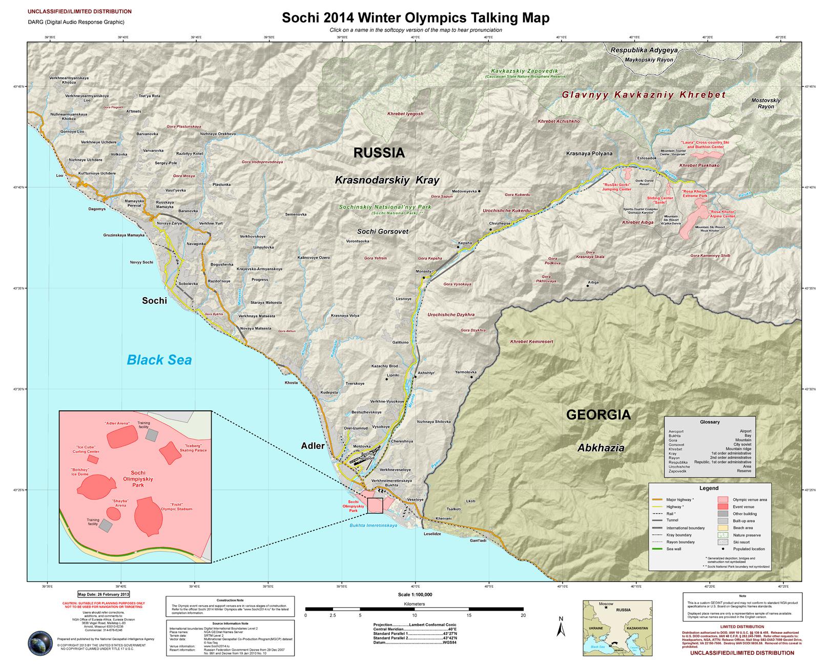 ULIMDIS National GeospatialIntelligence Agency Sochi - Sochi map