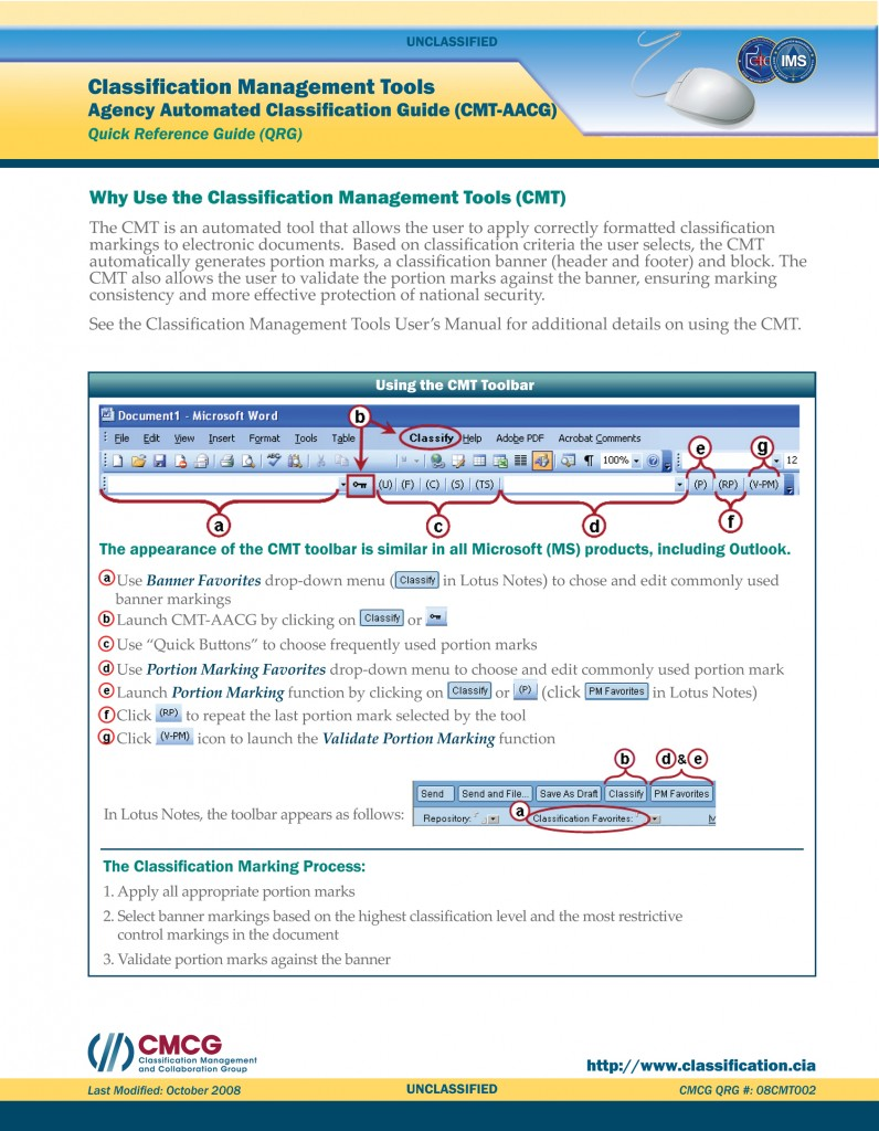 CIA-ClassificationManagementTools-QRG_Page_1