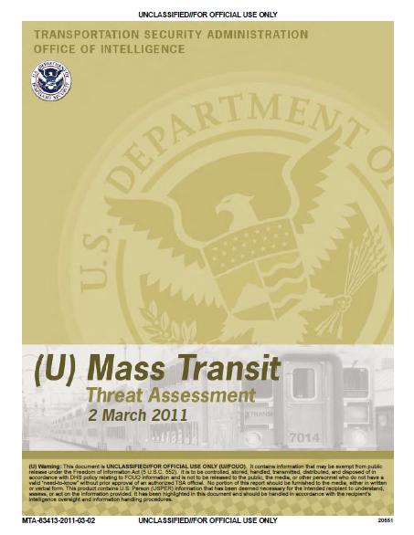 TSA-MassTransitThreats