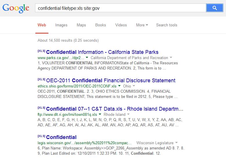 Feds Issue Bulletin on Google Dorking | Public Intelligence