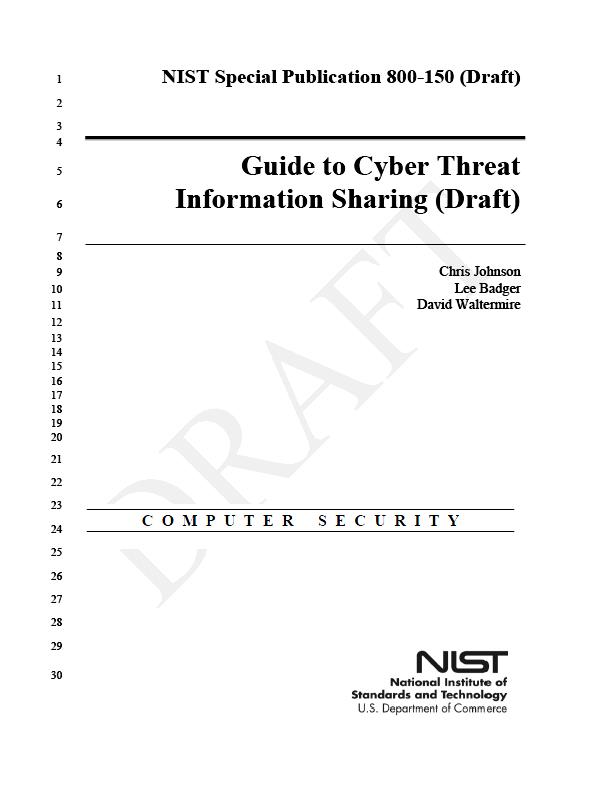 NIST-CyberThreatSharing