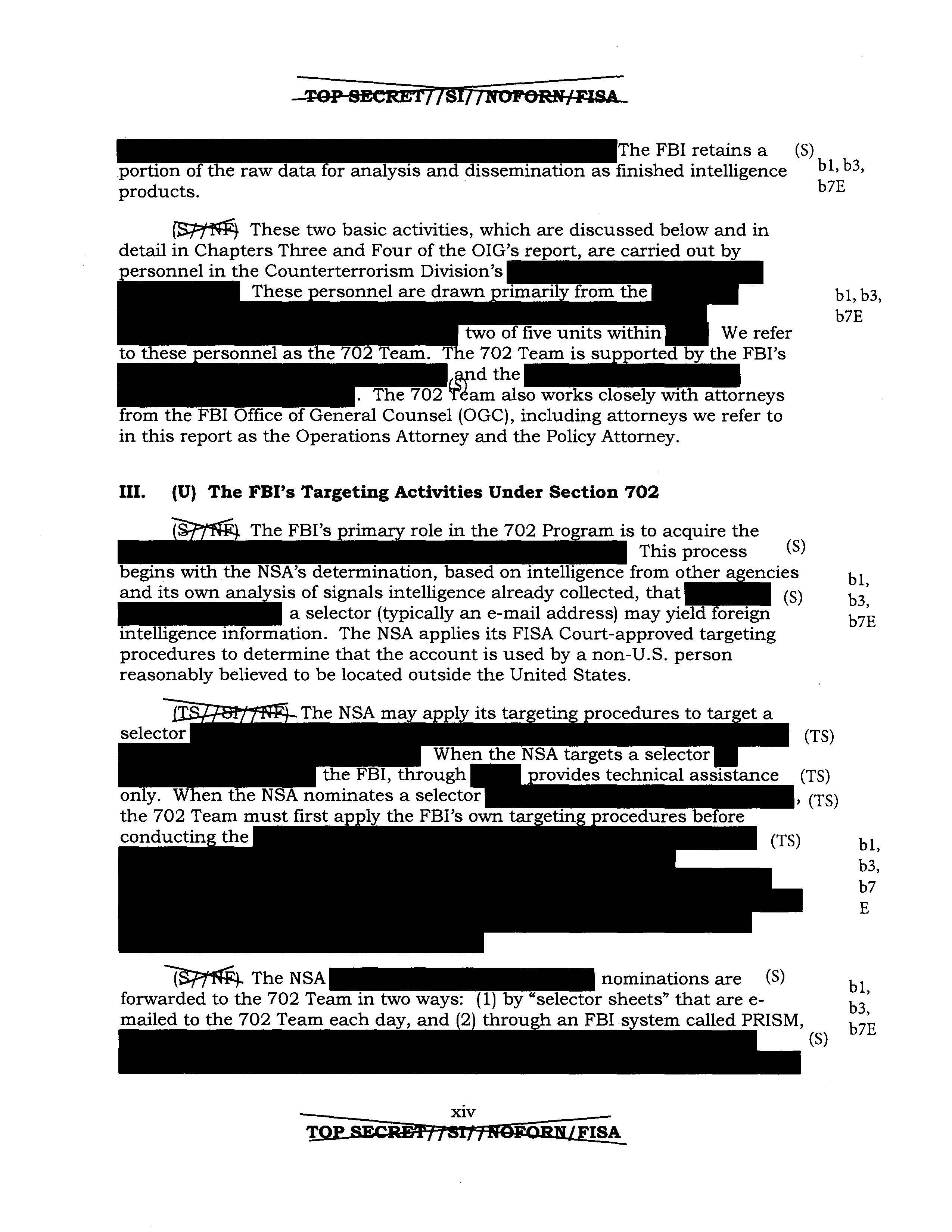DoJ Inspector General Report on FBI Surveillance Under FISA Section